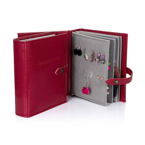 Little Book of Earrings, Dark Red