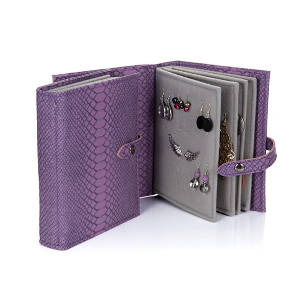 Little Book of Earrings, Purple Croc